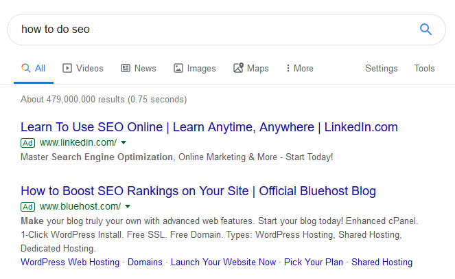 ppc ad examples in google