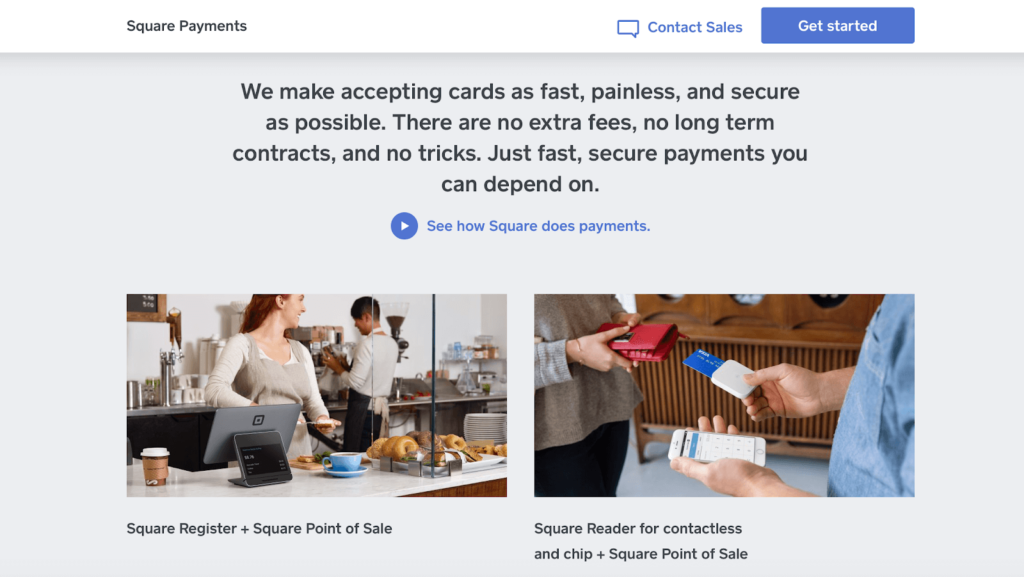 The Square website.