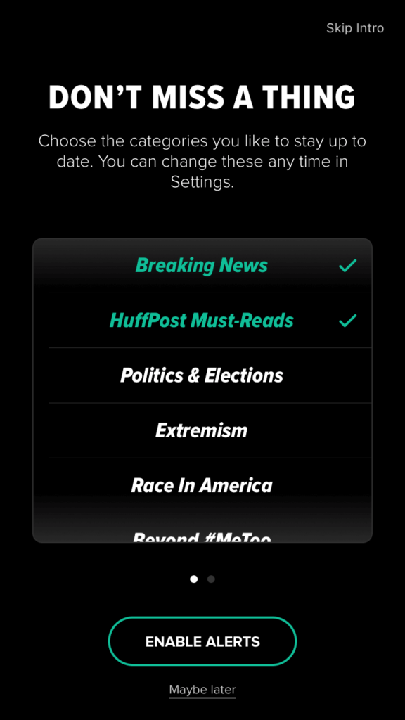 The Huffington Post mobile app.