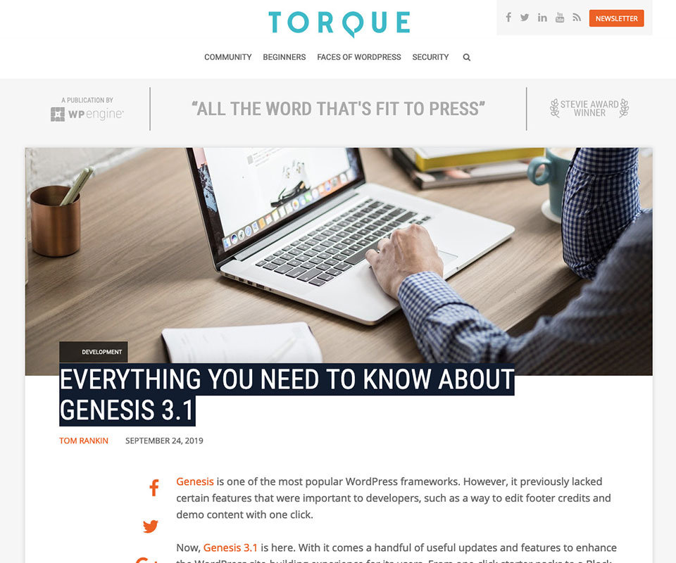 Former Torque article view