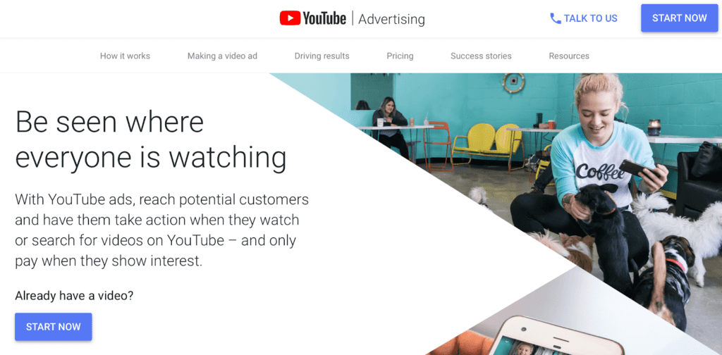 The YouTube ads platform.