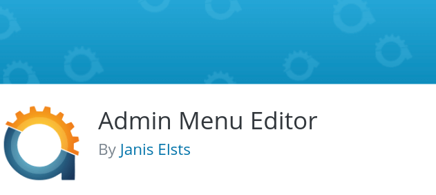 The Admin Menu Editor WordPress plugin.