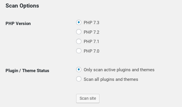 WP Engine PHP Compatibility Checker plugin.