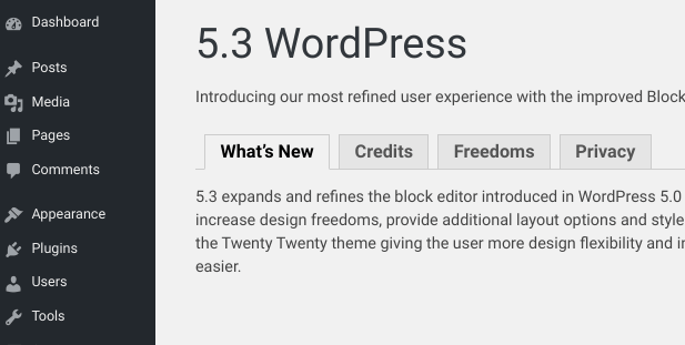 WordPress 5.3 Beta plugin test.