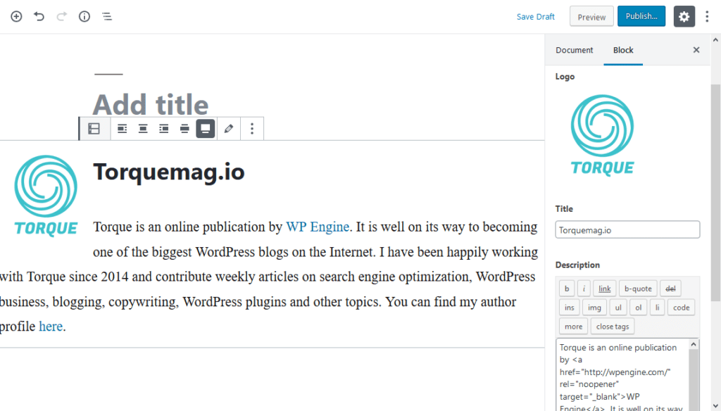 gutenberg alignment with custom block