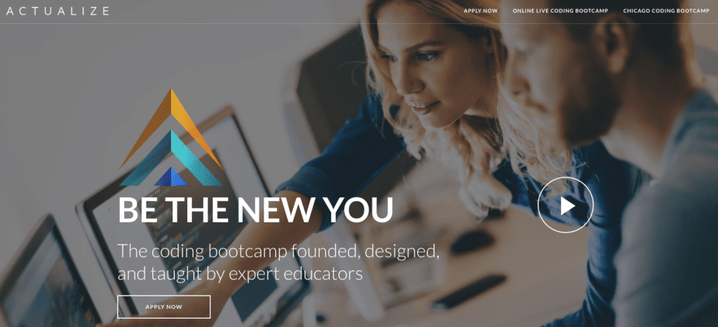 Actualize bootcamp website homepage.