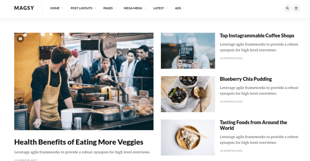 Magsy Modular WordPress theme.