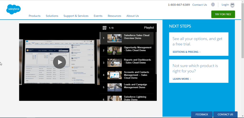 An example of a video landing page.