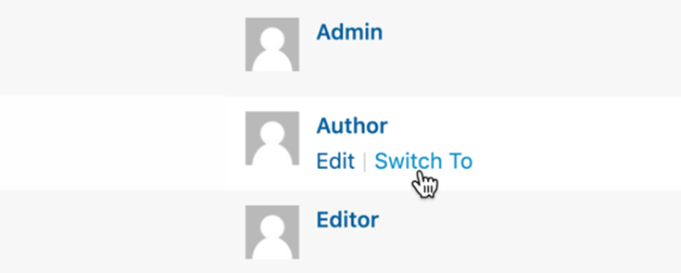 The User Switching WordPress plugin.