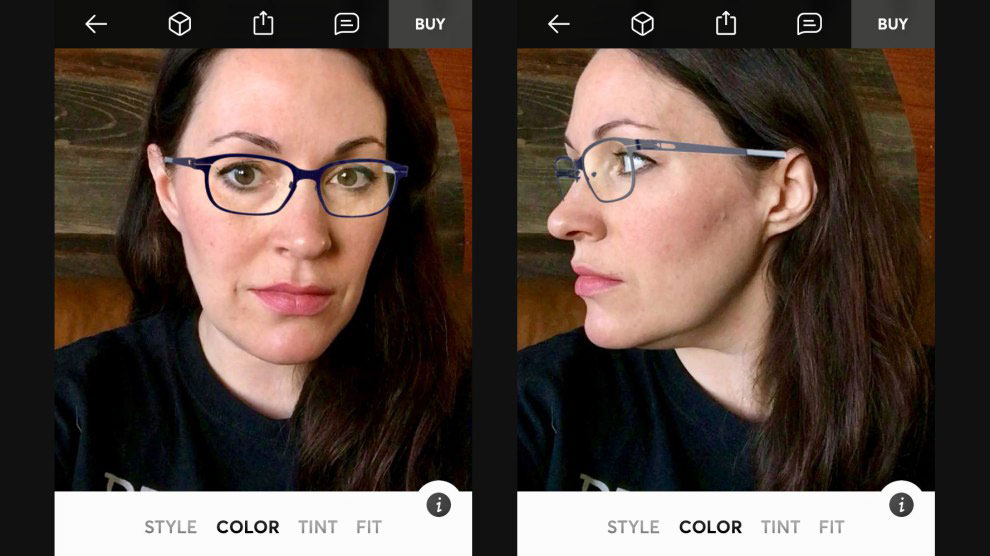 virtually try on glasses before buying