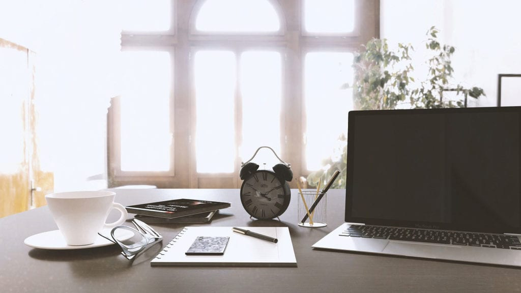 create a structured work place when working remotely