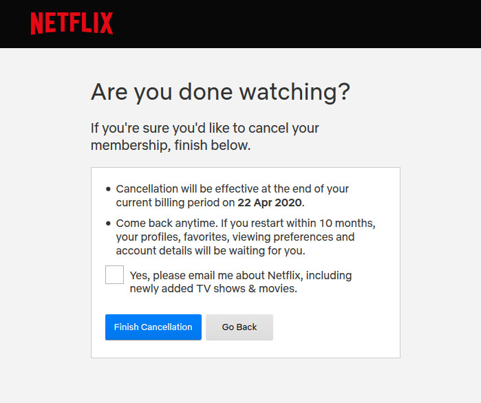 small business owners cancel non essential services like netflix during the coronavirus crisis