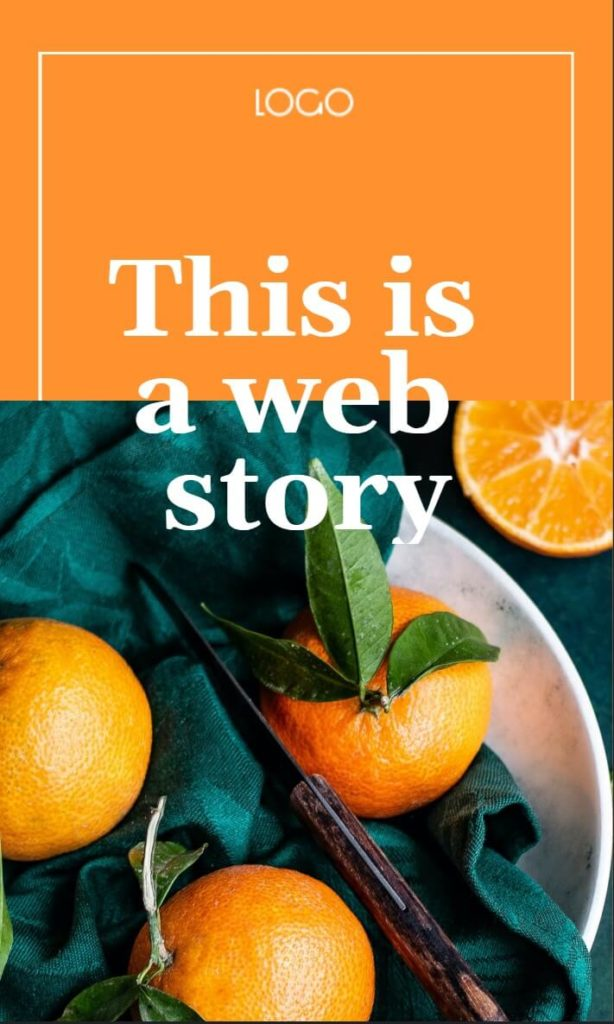 The cover page of a Web Story.
