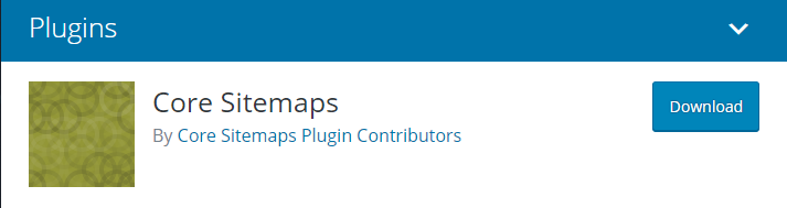 The Core Sitemaps plugin.