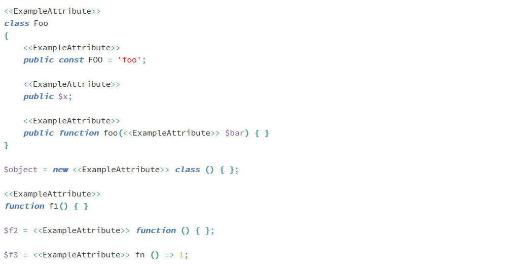 php 8 attributes examples