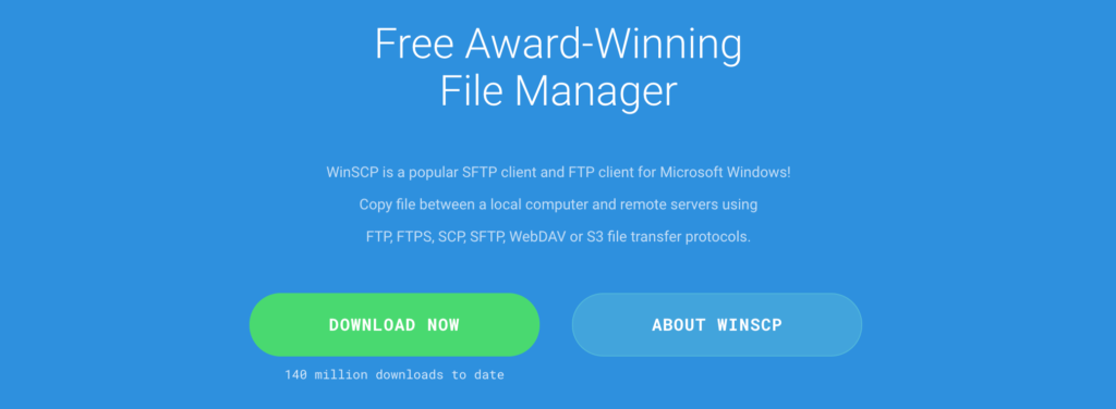 The WinSCP FTP client.