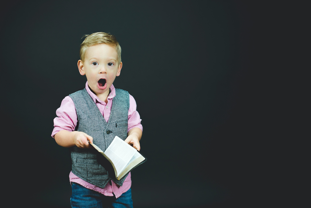 astonished boy as symbol to educate yourself to start a career in wordpress