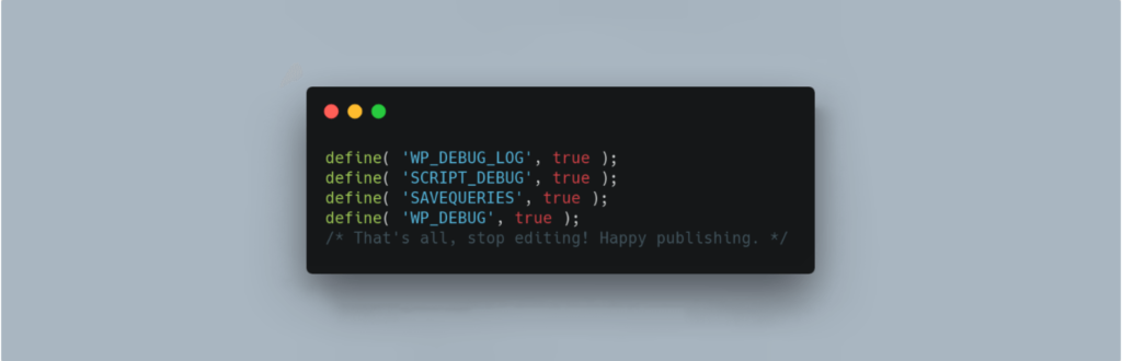 The WP Debugging plugin.