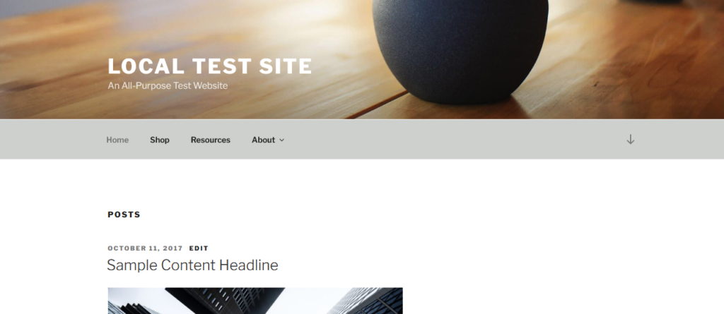 example for wordpress menu outside of header