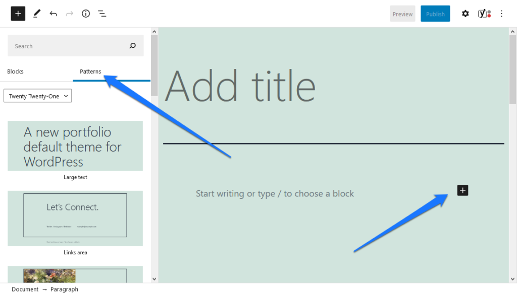 how to add block patterns in wordpress