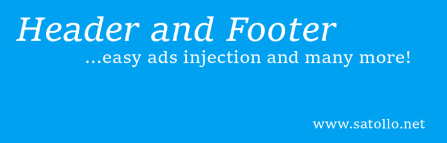 The Header, Footer and Post Injections plugin.