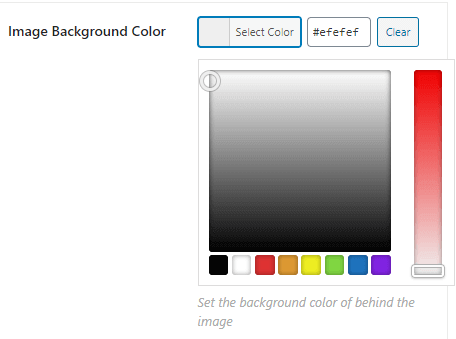 Setting an image background color.