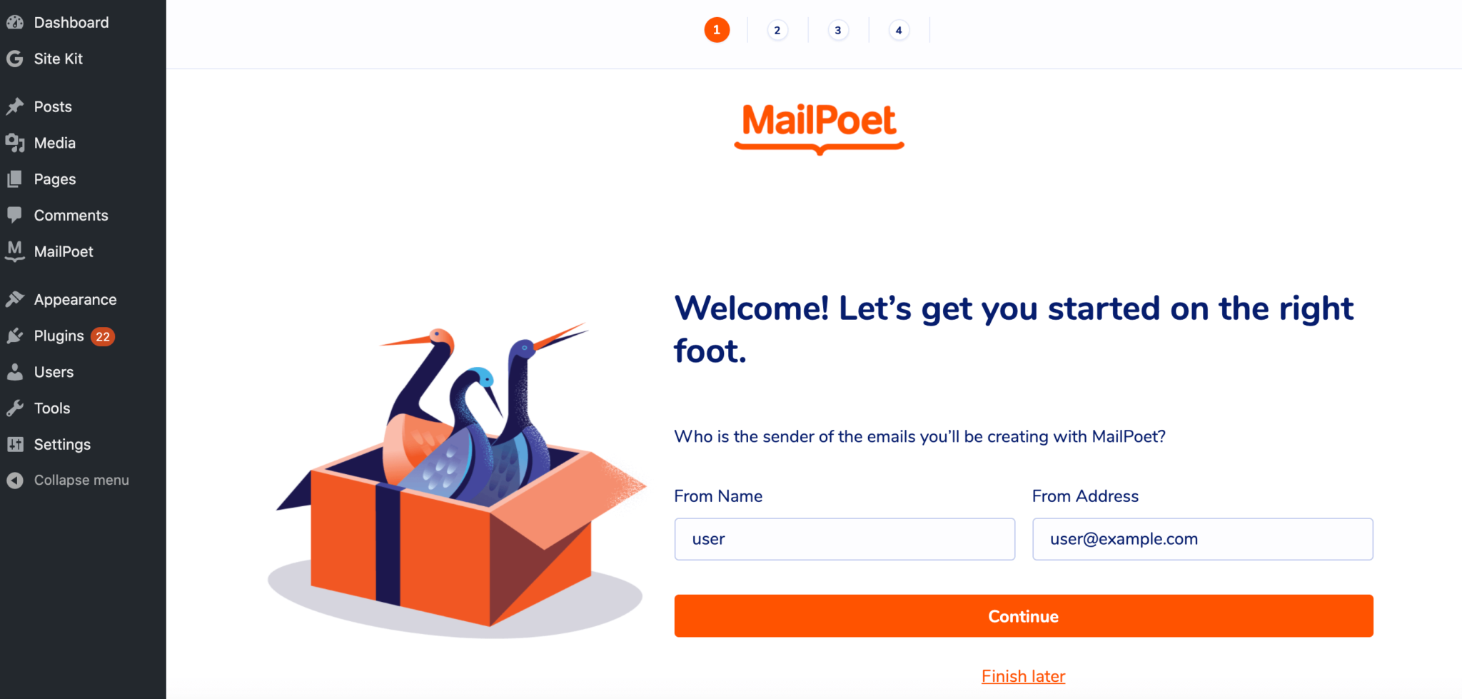 The MailPoet WordPress plugin.