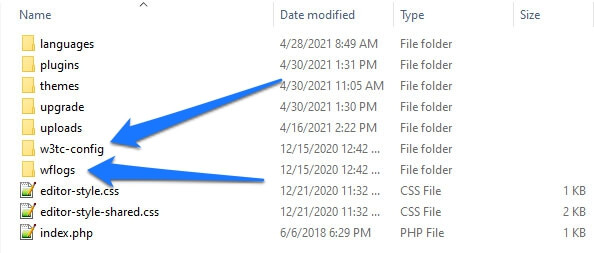 example of leftover files after deleting plugin