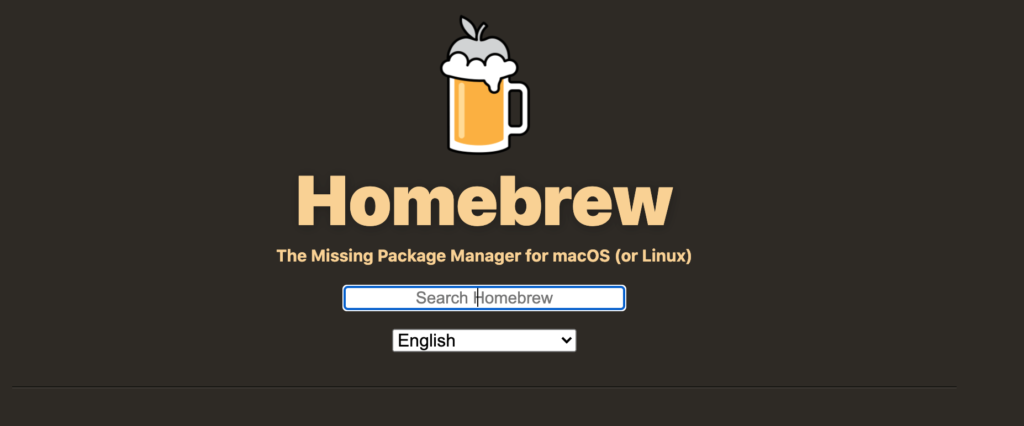 The Homebrew package manager.
