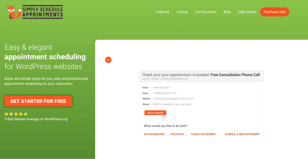 The Simply Schedule Appointments plugin.