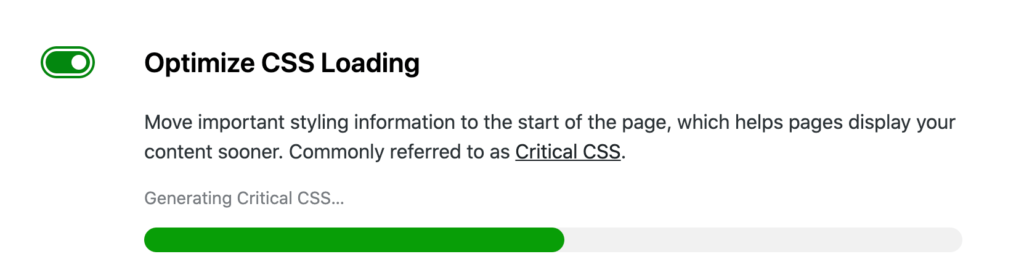 JetPack Boost's optimize CSS loading feature.