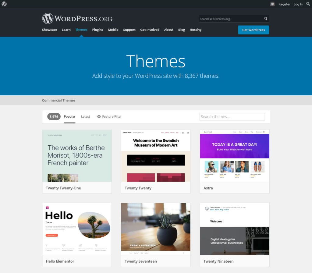 wordpress pros and cons theme directory