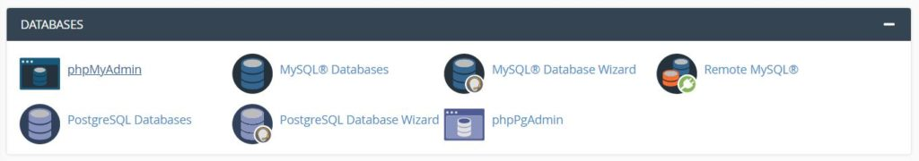 Accessing phpMyAdmin from cPanel