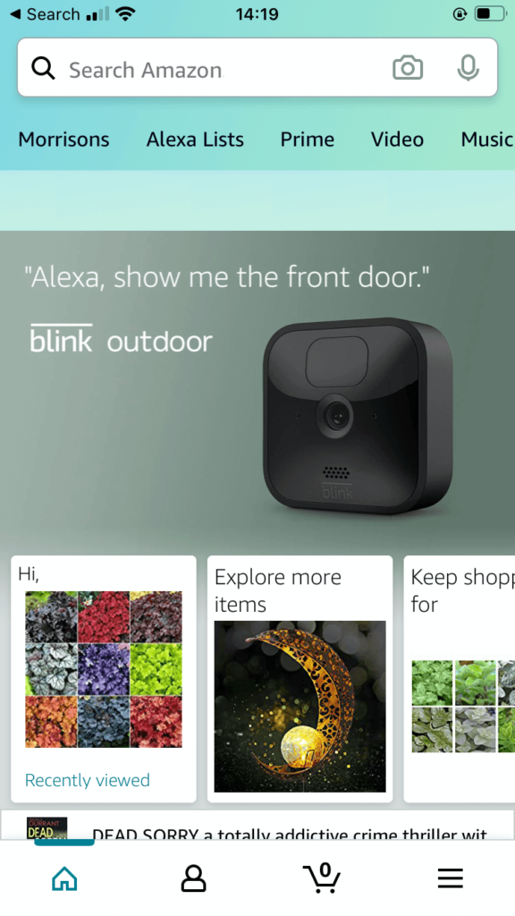 The Amazon mobile app is an example of an omnichannel experience.