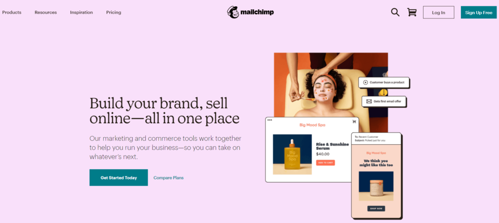 The Mailchimp email marketing service.