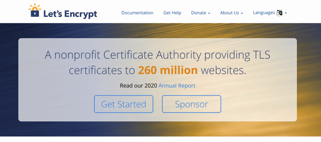 Let's Encrypt is an example of an SSL certificate provider.